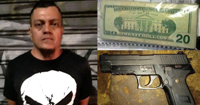 Incautan $800 en efectivo a sujeto armado en Apopa