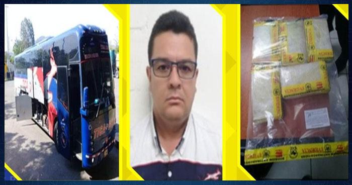 Identifican a motorista que transportaba droga oculta en autobús internacional