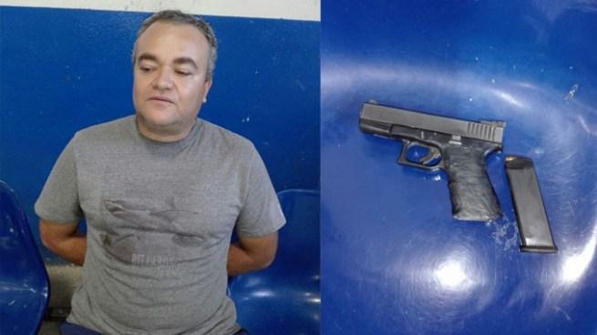 Capturan a hombre por amenazar a otra con arma de fuego durante una discusión en San Salvador