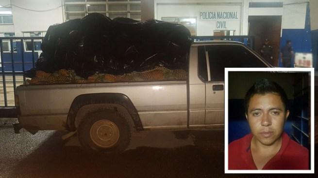Capturan a guatemalteco que intento ocultar un cargamento de piñas en Santa Ana