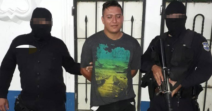 Pandillero capturado por agrupaciones terroristas en Cuscatlán