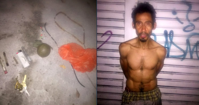 Capturan a hombre que portaba una granada de fabricación industrial en San Salvador