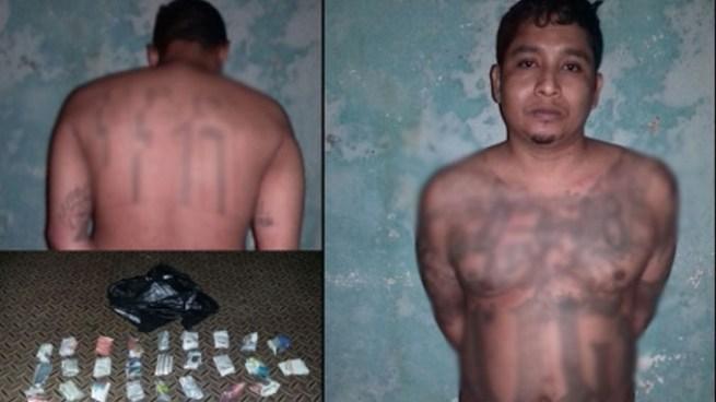 """""""Ploki"""", cabecilla de pandillas, capturado cuando se disponía a distribuir droga en Quezaltepeque"""