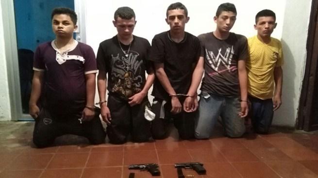 Palabrero y cuatro pandilleros más fueron capturados en Ciudad Arce