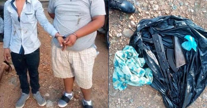 Capturan a cinco sujetos con un arma de guerra en Santa Rosa de Lima, La Unión