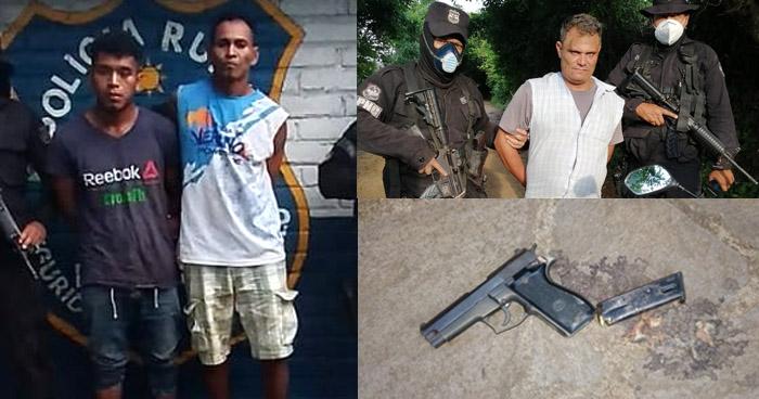 Capturan a pandilleros armados en Ahuachapán