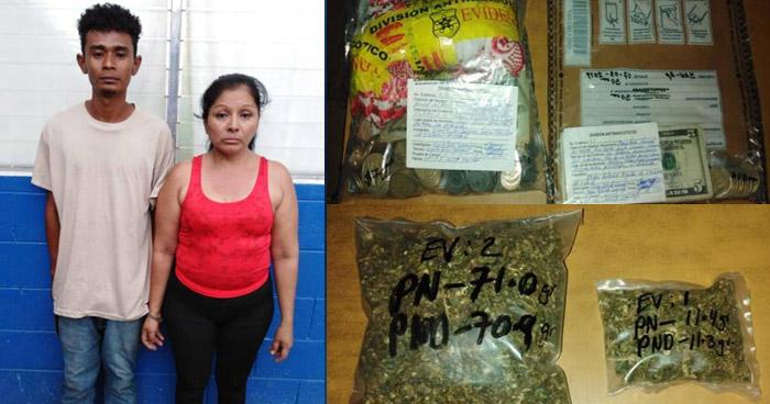 Capturan a dos distribuidores de drogas al norte de San Salvador