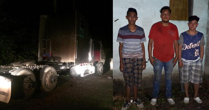 Capturan a tres implicados en robo y desarme de un furgón en Cuscatlán