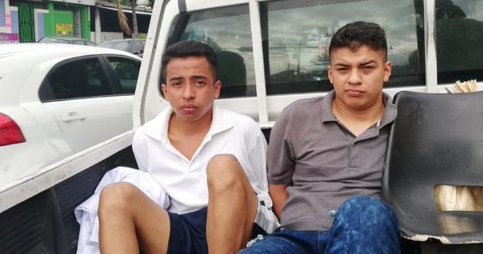 Pandilleros capturados por homicidio en Mejicanos