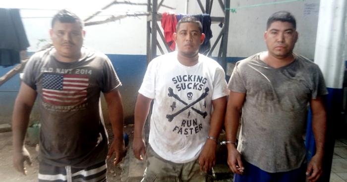 Capturados a tres pandilleros que intentaron huir por un área protegida de Usulután