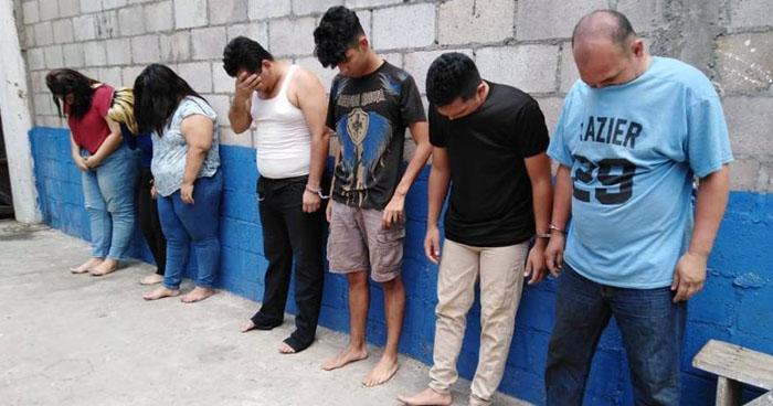 Capturan a 7 delincuentes por Estafa en Usulután