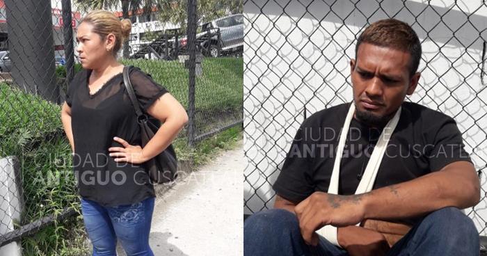 Capturan a pareja luego que asaltaran a una joven en microbús Ruta 44