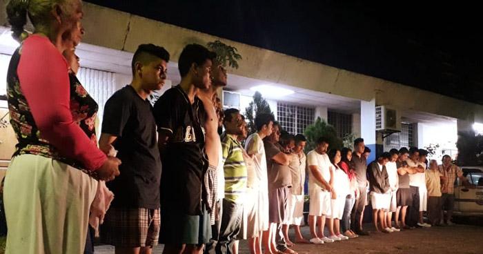 Secuestradores, homicidas y violadores entre los detenidos durante operativo en San Salvador