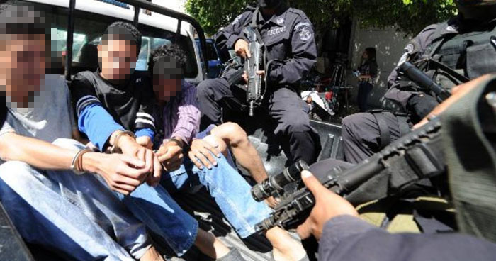 Pandilleros capturados cuando planeaban delitos adentro de un motel de San Salvador