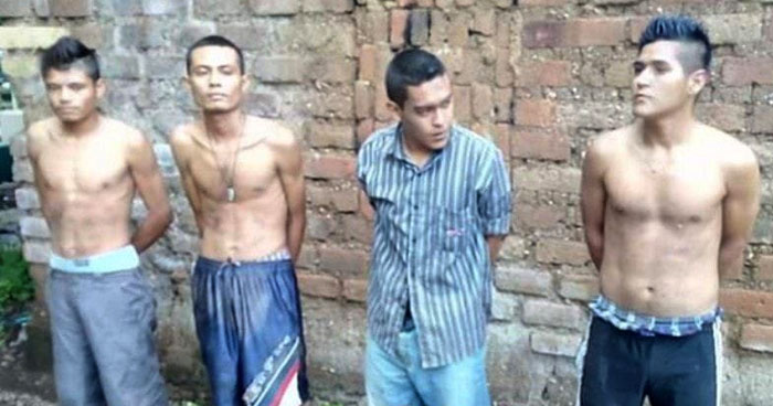 Pandilleros capturados con droga en Sonsonate