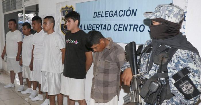 Capturan a palabrero y pandilleros que extorsionaban y asesinaban en La Libertad
