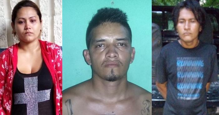 Una mujer y dos hombres fueron capturados en San Salvador y La Libertad