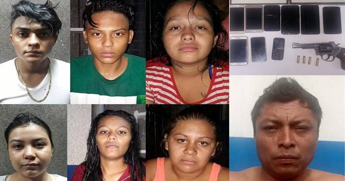 Capturan a 7 asaltantes en la alameda Juan Pablo II de San Salvador