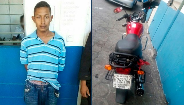 Capturan a motociclista por conducir en estado de ebriedad en centro San Salvador