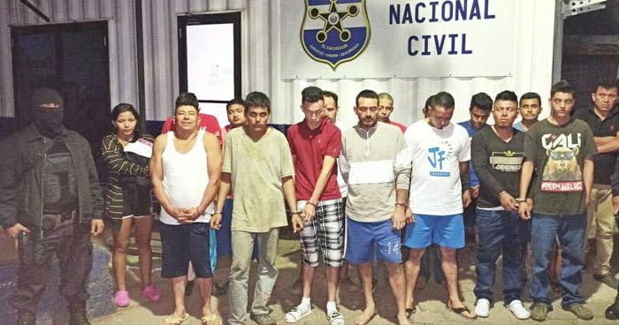 Capturan a miembros de la Pandilla 18 tras operativo en el occidente del país