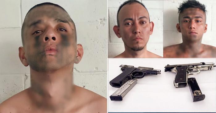 Capturan a tres pandilleros armados en San Salvador