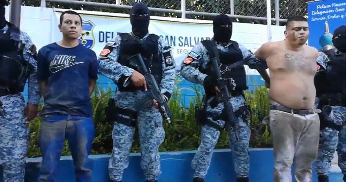 Capturan a pandilleros de la MS en la avenida España de San Salvador