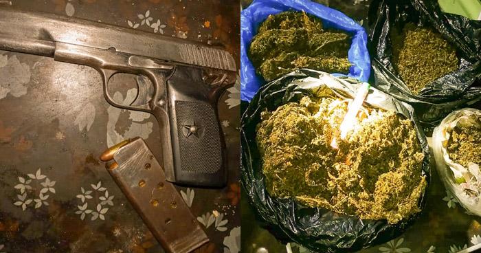 30 delincuentes capturados en operativo con un arma y droga