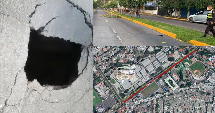 Restringen paso sobre la Alameda Manuel E. Araujo por trabajos en cárcava