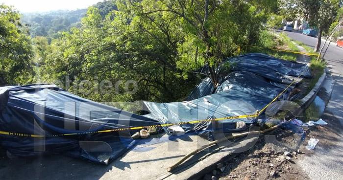 Cárcava amenaza con destruir un puente que conecta Ilopango y Tonacatepeque