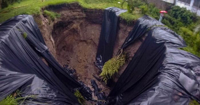 Cárcava en residencial Lomas de Miramonte tiene una profundidad de 15 metros