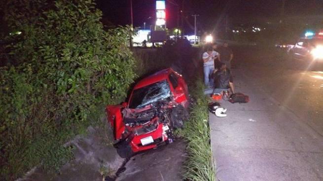 Dos personas lesionadas tras accidente de tránsito sobre la carretera de Oro