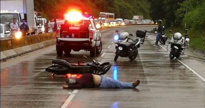 Acto de intolerancia causó la muerte del motociclista sobre la carretera Los Chorros