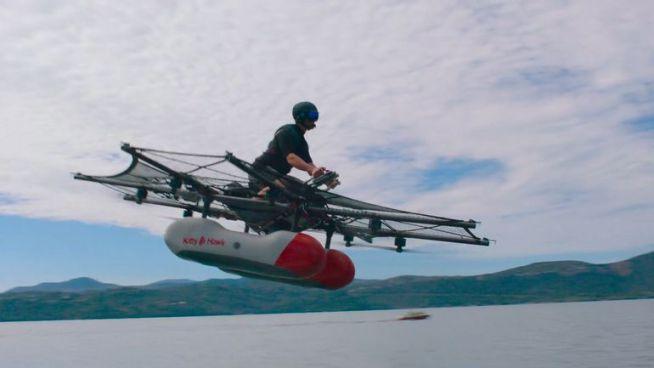 Google crea motocicleta voladora