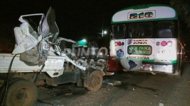 Dos personas lesionadas tras accidente de tránsito en Chalchuapa