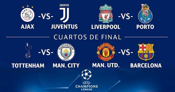 Listos los emparejamientos de cuartos de final de la Champions ...