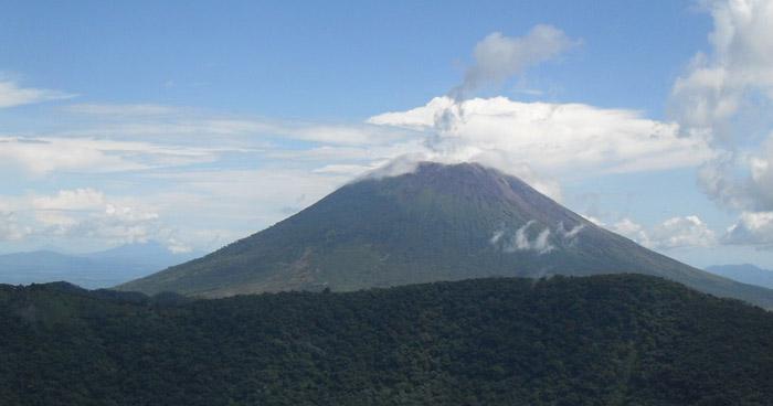 Caída de ceniza del volcán Chaparrastique se registró este miércoles