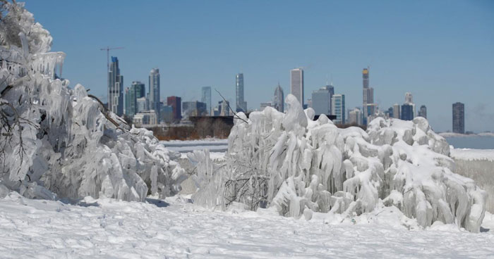 La temperatura descendió hasta -55° C en Chicago