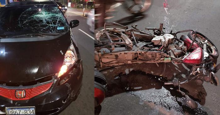Motociclista lesionado al ser embestido por otro conductor que irrespetó señal de alto