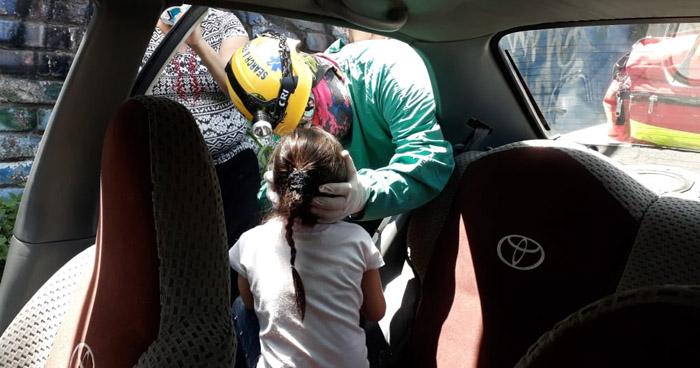 Dos menores lesionados tras choque en calle de Ciudad Delgado