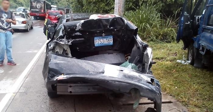 Dos lesionados en choque múltiple sobre la carretera Los Chorros