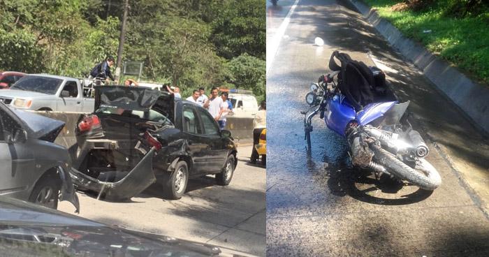 Niño de 4 años entre lesionados tras choque en carretera al Puerto de La Libertad