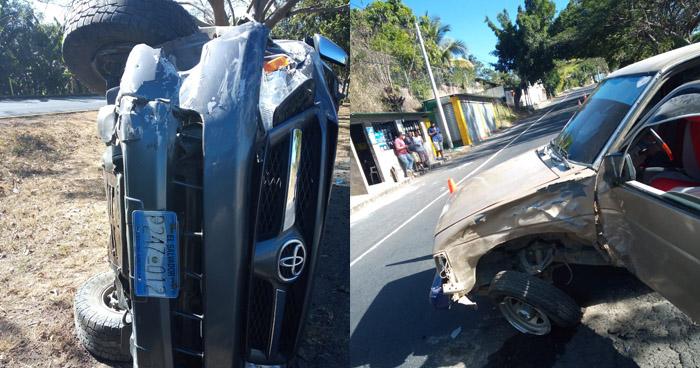Cuatro lesionados tras grave choque en carretera Panamericana