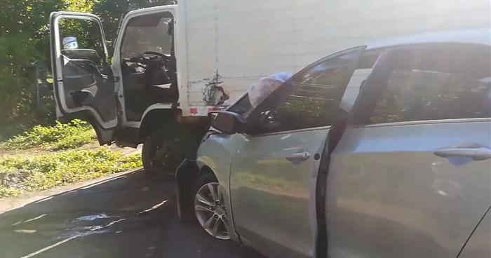 Cuatro lesionados tras accidente en El Tránsito, San Miguel