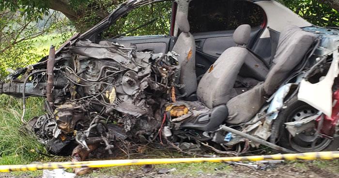 Un muerto y 4 lesionados tras choque en carretera Panamericana, San Vicente