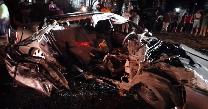 Un fallecido y otro lesionado tras fuerte choque en carretera a Santa Ana
