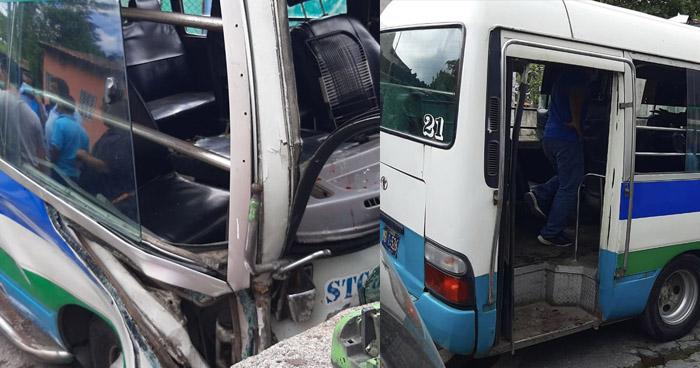 Varios lesionados tras accidente en  carretera antigua a Santo Tomás