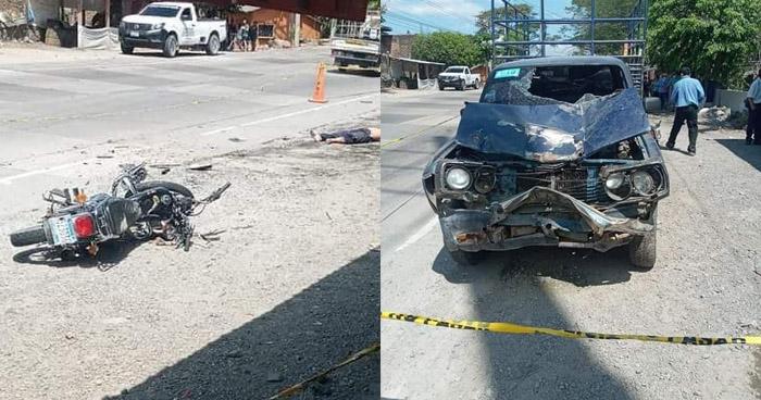 Un fallecido tras fuerte choque en carretera de Metapán
