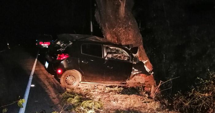 Conductor muere al chocar contra un árbol en carretera de Santa Ana