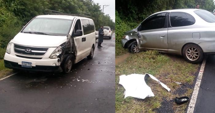 Conductor con más de 300° de alcohol capturado, tras provocar choque en carretera de Suchitoto