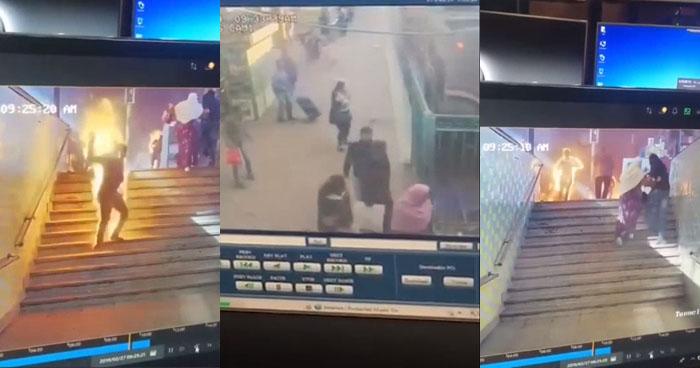 VIDEO | Momento exacto del accidente en la estación central de trenes en El Cairo
